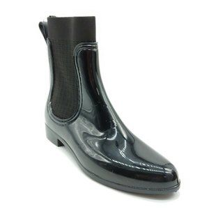 Catherine Womans Ankle High Rain Boot Black NEW